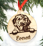 Labradoodle / Goldendoodle Personalized Wooden Christmas Ornament