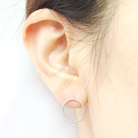 Simple Open Circle Stud Earrings