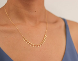Delicate Gold Fringe Necklace