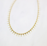 Simple Gold Chain Choker Shimmer Choker Minimal Necklace Gift for Her