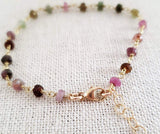 Tourmaline Gemstone 14k Gold Filled Bracelet