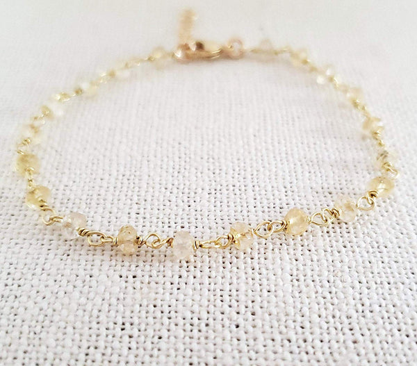 Citrine Gemstone 14 Gold Filled Bracelet