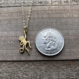 Monkey Charm Necklace - Dainty 14k Gold Filled Necklace - Gift for Her