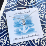 Anchor Necklace - Sterling Silver - Friendship Necklace - Gift for Her