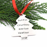 Christmas Ornament - Custom Hand Stamped Holiday Tree Ornament Keepsake