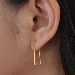 Arc Earrings with 24K Gold Plate