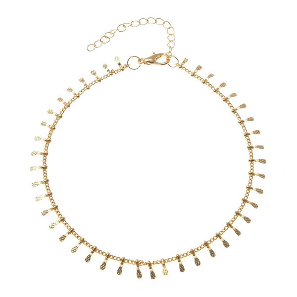 Gold Chain Shimmer Anklet - Gift for Her