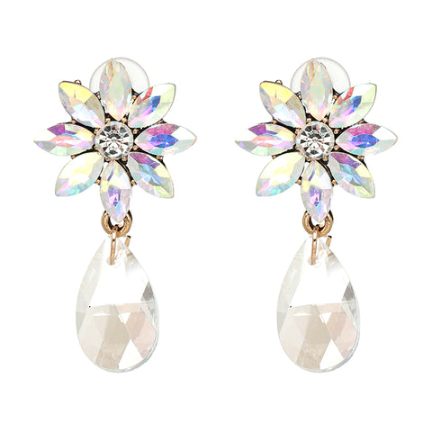 Pansy Flower Earrings
