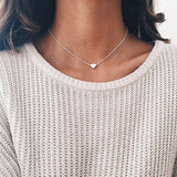 Tiny Heart Pendant Choker Necklace