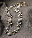 Marie - Crystal Floral Statement Necklace