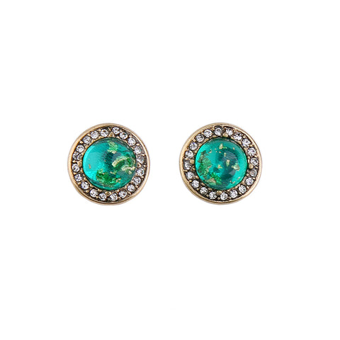 Claire Circle Stud Earrings