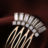 Bronze Crystal Hair Comb