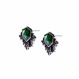 Green Envy Marcasite Stud Earrings