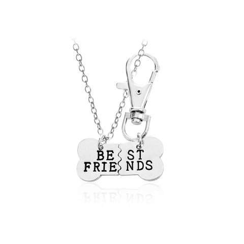 Best Friend Bone Necklace and Pet Tag 2 PieceSet