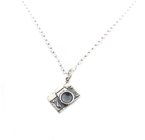 Camera Photographer Necklace - Sterling Silver - Friendship Necklace - Gift for Her