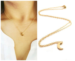 Moon Charm- Dainty 14k Gold Filled Jewelry