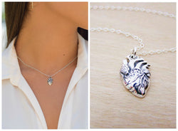 Anatomical Heart Sterling Silver Necklace