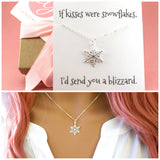 Snowflake Necklace - Christmas Holiday Necklace / Sterling Silver Necklace / Gift for Her / Simple Jewelry