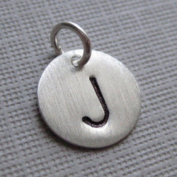 Add an Initial Charm - 11mm Round Sterling Silver Tag