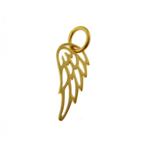 Add a Gold Tiny Angel Wing or Bird Wing Charm