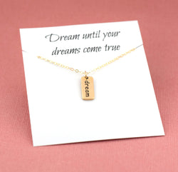 Dream Necklace - 14k Gold Fill Necklace / Gift for Her / Simple Jewelry