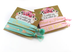 Bridesmaid or Maid of Honor Hair Ties Set - Wedding Party Gift