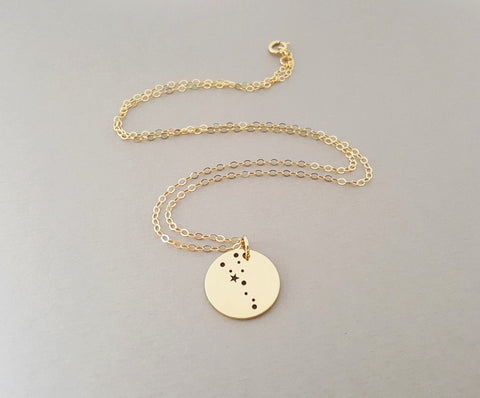 a43cc949f41ee3 ... Taurus Zodiac Necklace - Constellation Necklace - Gold Fill Necklace -  Simple Jewelry - Astrology Necklace ...