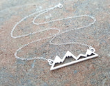 Mountain Bar Skyline Sterling Silver Necklace