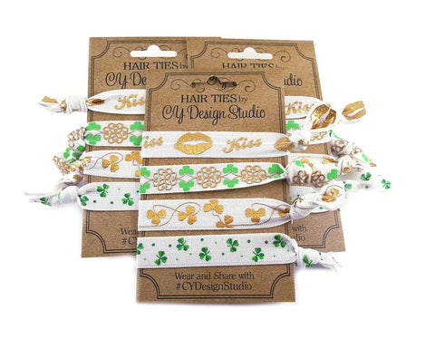 St. Patrick's Day Hair Ties Set