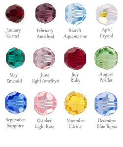 Add a Swarovski Crystal Birthstone Charm