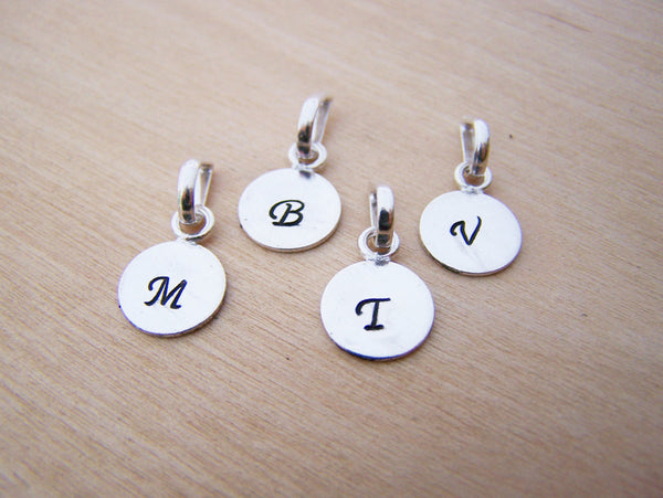 Add a Hand Stamped German Silver Initial Charm
