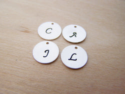 Add a Hand Stamped Sterling Silver Initial Charm