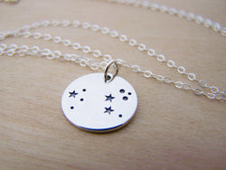 Dainty Sterling Silver Zodiac Leo Constellation Necklace / Gift for Her
