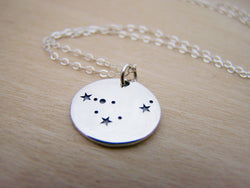Capricorn Zodiac Constellation Sterling Silver Necklace / Gift for Her