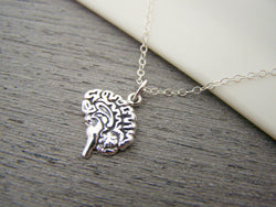 Sterling Silver Brain Necklace