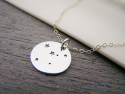 Cancer Zodiac Constellation Sterling Silver Necklace