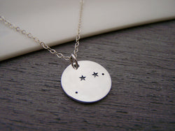 Aries Zodiac Constellation Sterling Silver Necklace