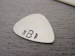 Monogrammed Initial Personalized Guitar Pick / Gift for Him / Gift for Dad / Musician Gift