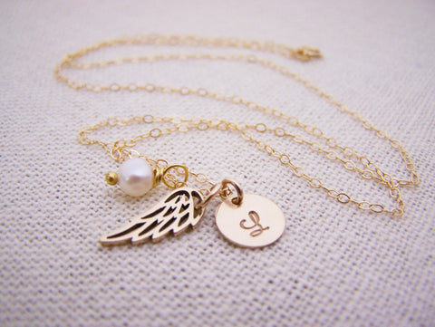 Personalized angel wing necklace memorial necklace miscarriage personalized angel wing necklace memorial necklace miscarriage necklace aloadofball Choice Image
