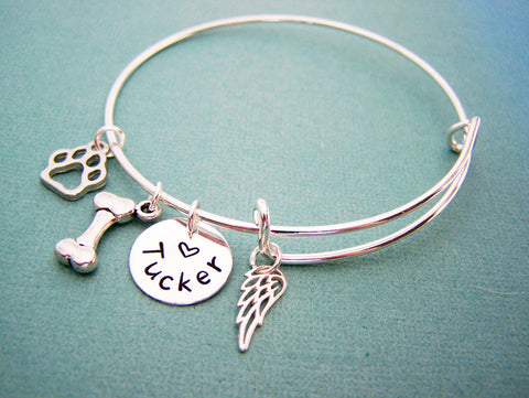 Dog Memory Bracelet -  Pet Loss Jewelry - Personalized Bracelet