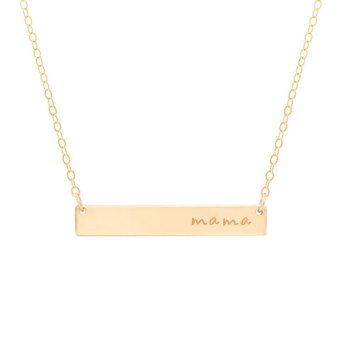 Mama Bar 14k Gold Filled Necklace