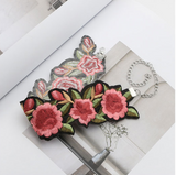 Pink Flower Fabric Choker