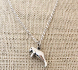 Manatee Necklace - Sterling Silver - Friendship Necklace - Gift for Her