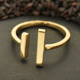 Adjustable Natural Bronze Parallel Bars Ring
