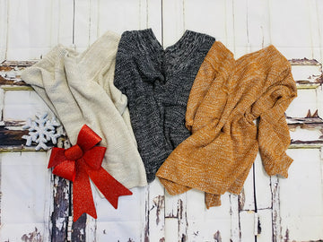 Slouchy Double V Sweater