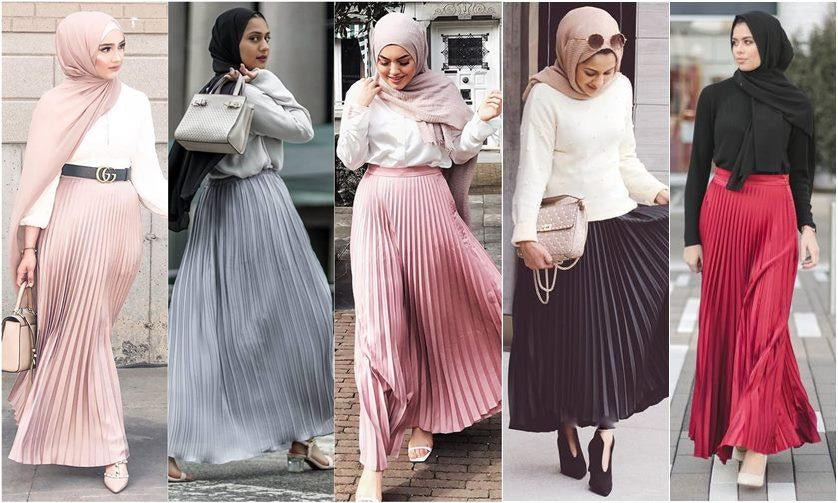 All The Ways To Wear Our Pleated Metallic Skirts According To Your Favorite Bloggers-Niswa Fashion