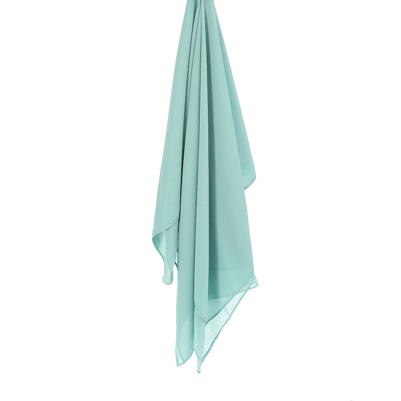 TIFFANY BLUE Georgette Chiffon Scarf