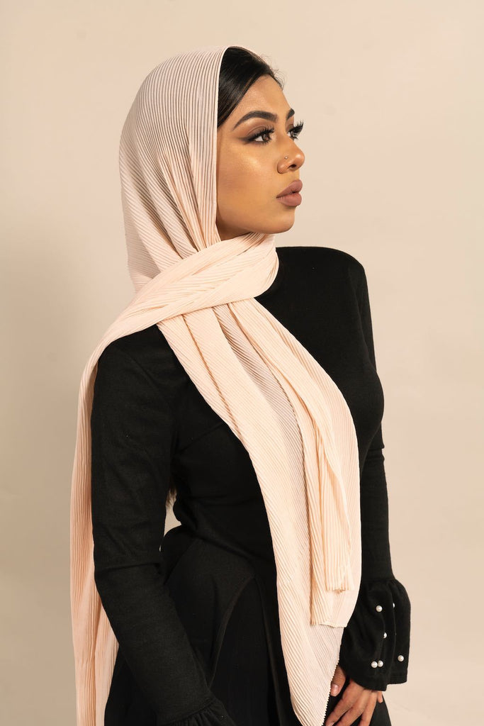 ALABASTER Pleated Chiffon-AllScarves-Niswa Fashion
