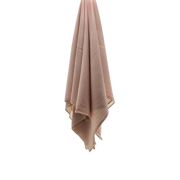 BLUSH NUDE Georgette Chiffon Scarf-Niswa Fashion