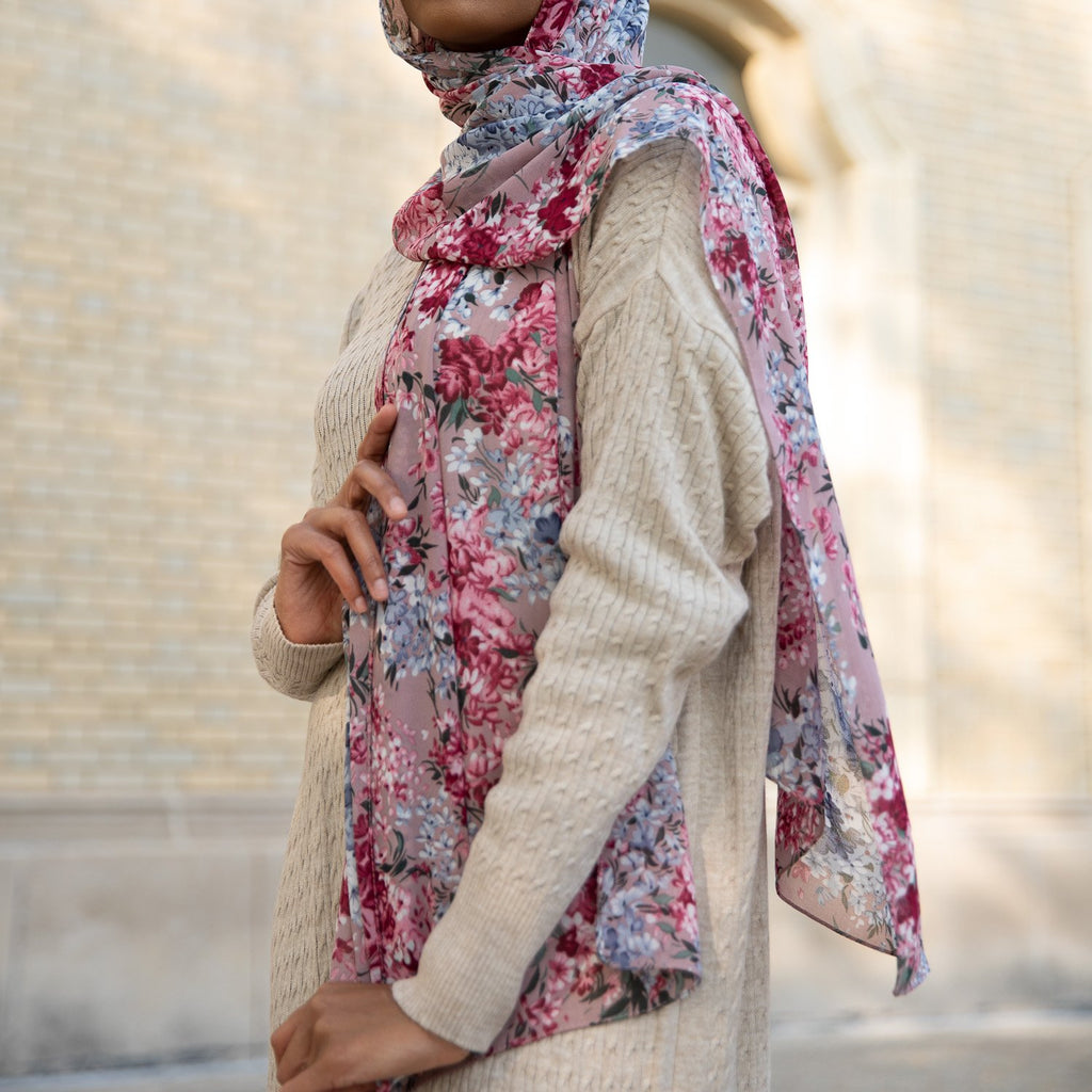 DAISY DREAM Chiffon Print-AllScarves-Niswa Fashion
